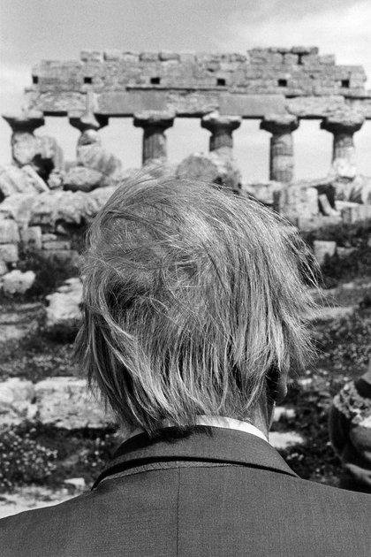 Borges en Selinunte, Sicilia, Italia (Ferdinando Scianna)