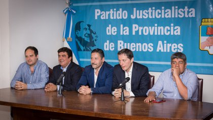Gustavo Menendez is the current president of the PJ of the province of Buenos Aires.  (Martin Rosenzveig)