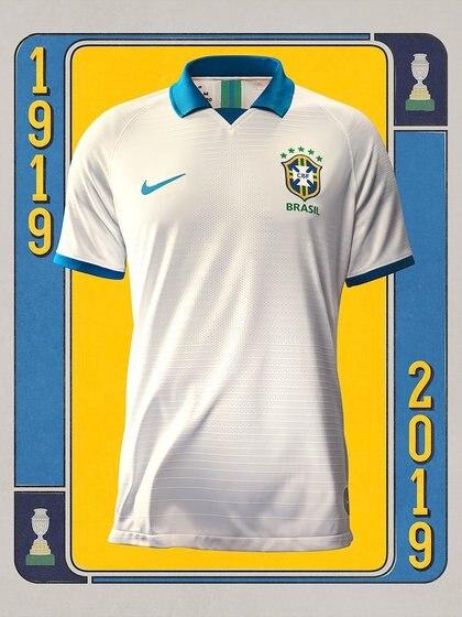 La firma que viste a Brasil busca homenajear a la camiseta utilizada en la Copa América 1919 (@CBF_Futebol)