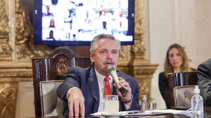 Alberto Fernández en Casa Rosada. (Presidencia)
