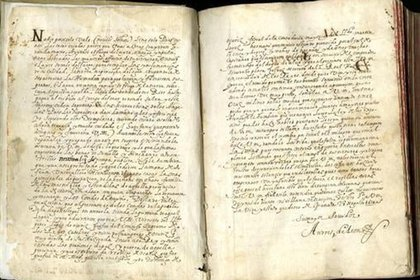 """Manuscrito original de """"Historia del huérfano"""""""