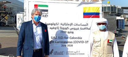 Cortesía: embajador de Colombia ante los Gobiernos de Emiratos Árabes Unidos, Qatar, Kuwait, Bahréin y Yemen/ @JaimeAminH