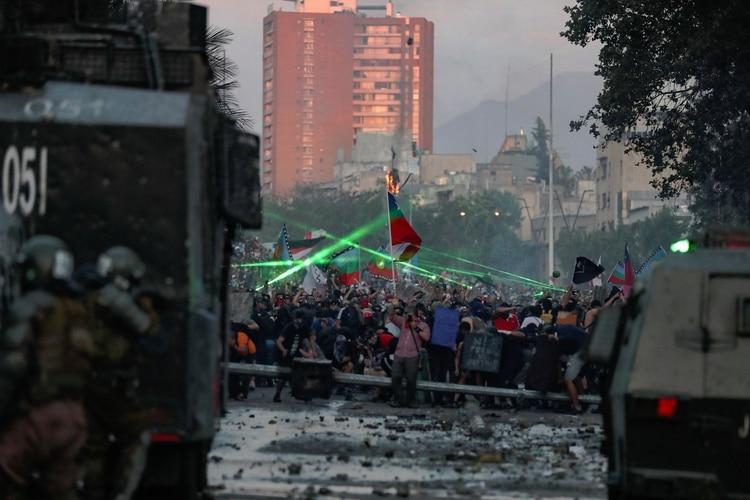 Protestas de este martes en Santiago, Chile. REUTERS/Ivan Alvarado