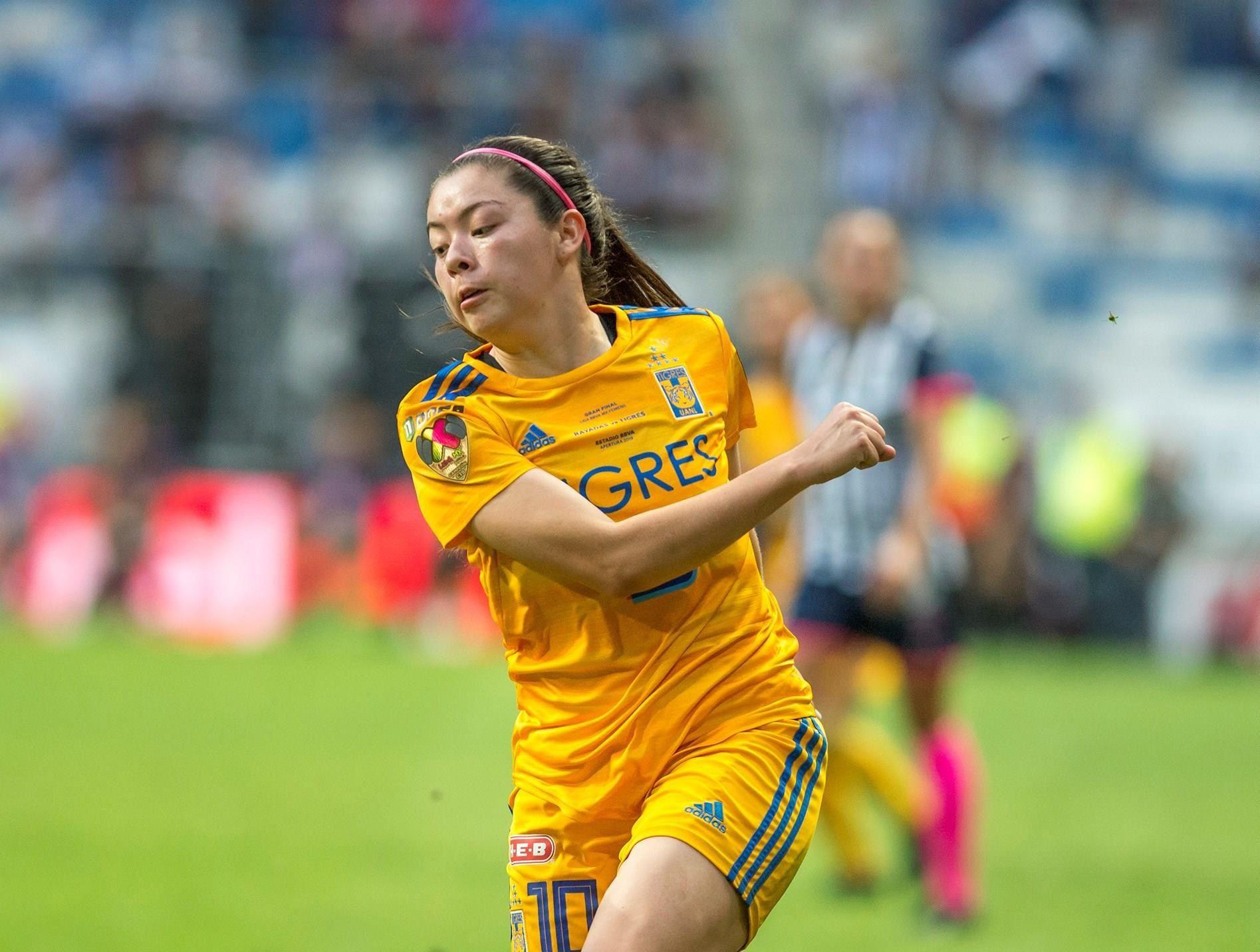 Fotografía de archivo de Katty Martínez de Tigres, el 7 de diciembre de 2019, en la ciudad de Monterrey (México). EFE/Miguel Sierra/Archivo