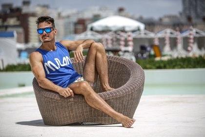 Christian Sancho aprovechó el día de sol para disfrutar de un día de playa (Fotos: Christian Heit)