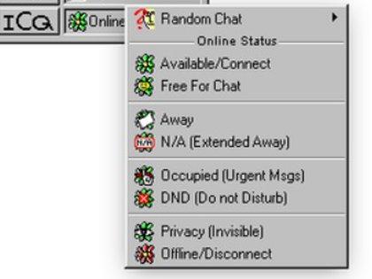 Así se veía ICQ en sus inicios.