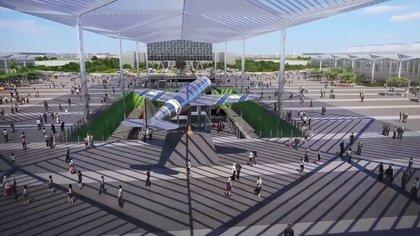 El diseño del aeropuerto de Santa Lucía presentado por el gobierno de AMLO (Foto: archivo)