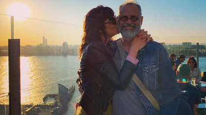 Jorge Rial y su mujer, Romina Pereiro (Foto: Instagram)