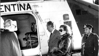 Isabelita Perón, detenida tras el golpe militar