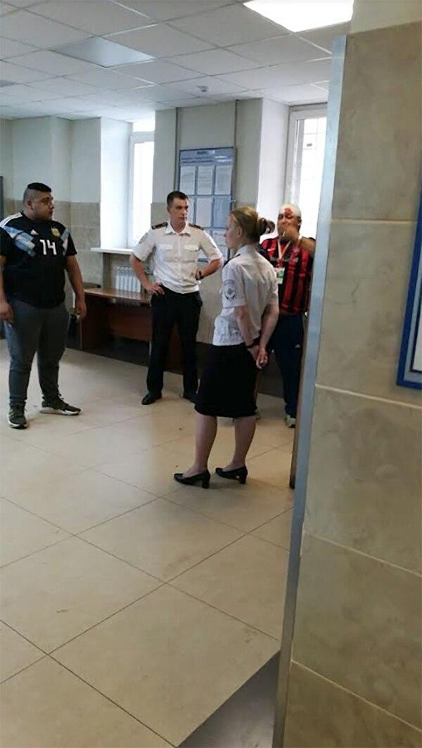 Losviolentos de San Lorenzo y Huracán arrestados por la policía rusa