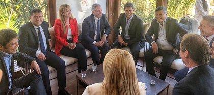 Alberto Fernández estuvo de campaña en Mendoza, adonde el domingo que viene hay elección para designar al nuevo gobernador provincial