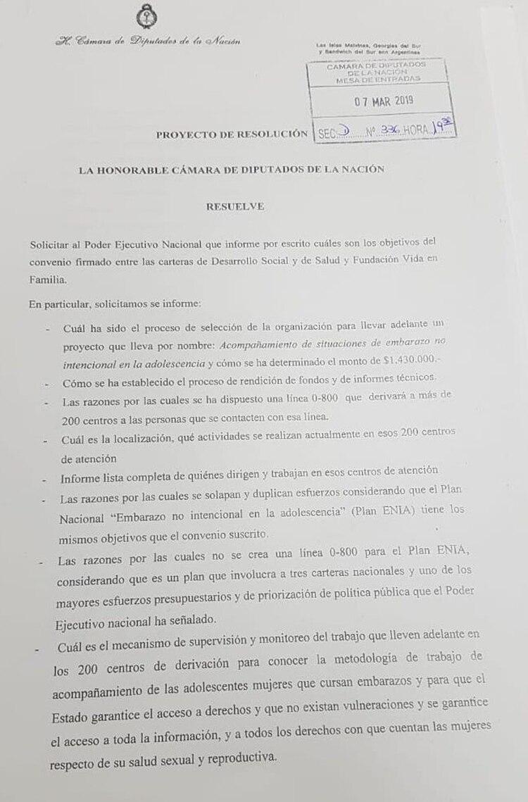 Los pedidos de un grupo de legisladoras radicales al Poder Ejecutivo sobre el convenio