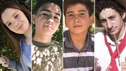 Camila, Gonzalo, Danilo y Carlos Aníbal, las víctimas de la trágica persecusión