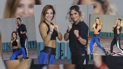 Jésica Cirio tomó clases de Strong by Zymba junto a Michelle Lewin en Miami