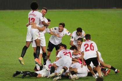 El Sevilla se consagró campeón de la UEFA Europa League 2019/20 (REUTERS)