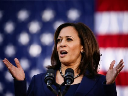 FILE PHOTO: U.S. Senator Kamala Harris launches her campaign for President of the United States at a rally at Frank H. Ogawa Plaza in her hometown of Oakland, California, U.S., January 27, 2019.  REUTERS/Elijah Nouvelage/File Photo
