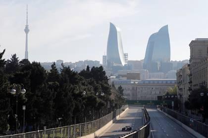 FOTO DE ARCHIVO. Vista general durante la competición del Gran Premio de Azerbaiján, en Bakú. 28 de abril de 2019. REUTERS/Maxim Shemetov.