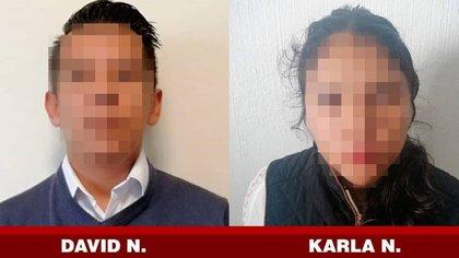 """Karla """"N"""" mató de tres disparos a Emma Sofía, la esposa de David """"N"""", quien presuntamente sabría de sus planes y estaba de acuerdo, a pesar de que ya se estaban divorciando, finalmente esta ambos fueron detenidos Foto: Fiscalía Gral. de Justicia de Tlaxcala"""