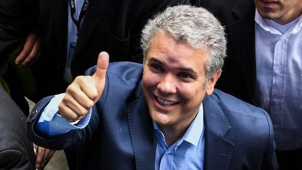 Duque consiguió el 39,1% de los votos (AFP)