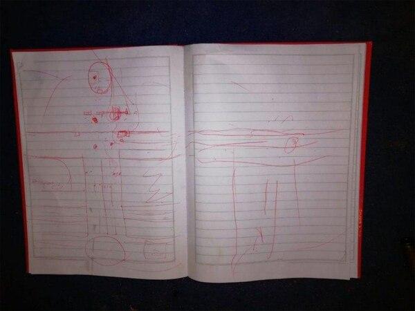 Planos hechos a mano alzada del lugar de detención del capo narco