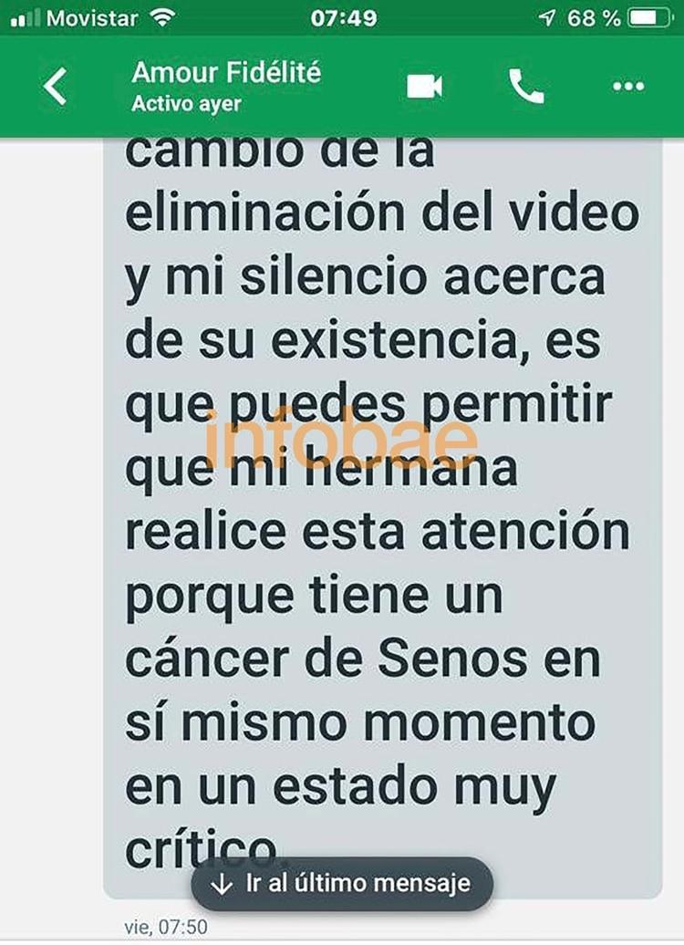 Las primeras amenazas, disfrazadas de un pedido de ayuda para la operación de una supuesta hermana enferma de cáncer de mamas
