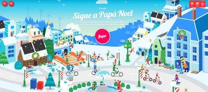 Juegos interactivos y la posibilidad de seguir el recorrido de Santa Claus.