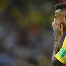 Brazil's forward Neymar reacts during the Russia 2018 World Cup quarter-final football match between Brazil and Belgium at the Kazan Arena in Kazan on July 6, 2018. / AFP PHOTO / Manan VATSYAYANA / RESTRICTED TO EDITORIAL USE - NO MOBILE PUSH ALERTS/DOWNLOADS