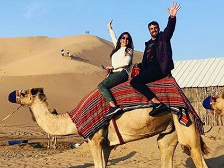Azzaro comparte con sus seguidores de Instagram el paso a paso de su viaje