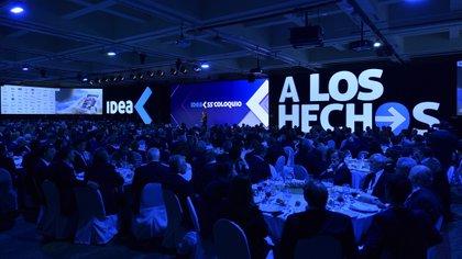 Imagen del Coloquio de IDEA. La ex presidente cuestionó con dureza a los empresarios.