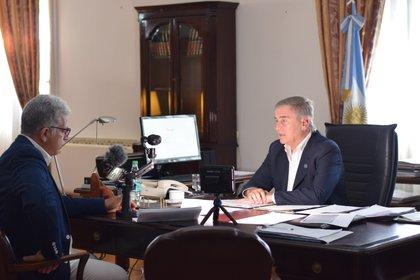 Oscar Aguad con Infobae en 2019
