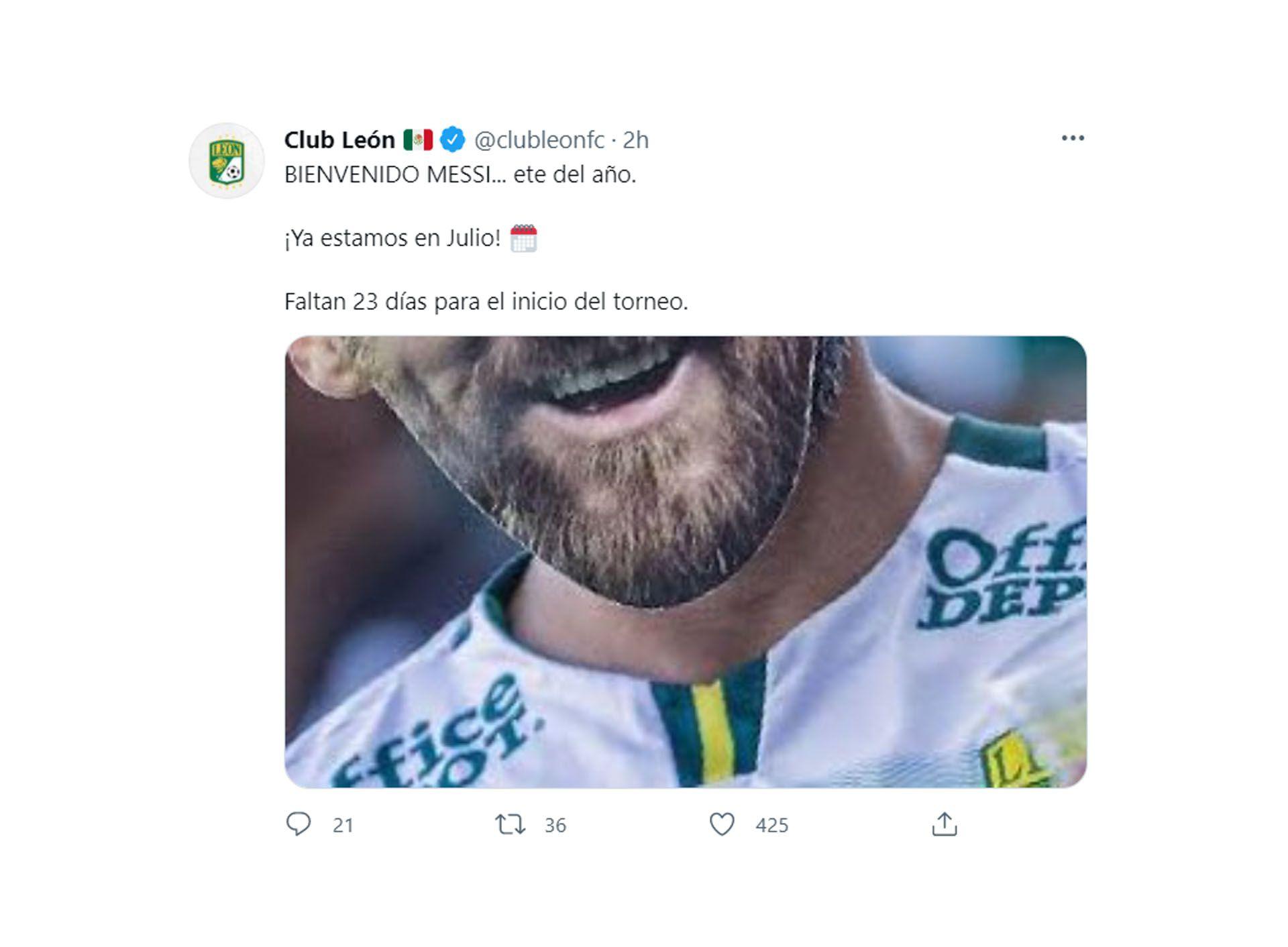 tuits messi libre