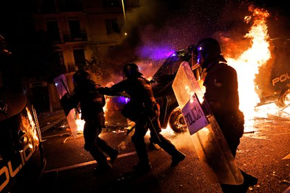 Las protestas en Barcelona (AP Photo/Bernat Armangue)