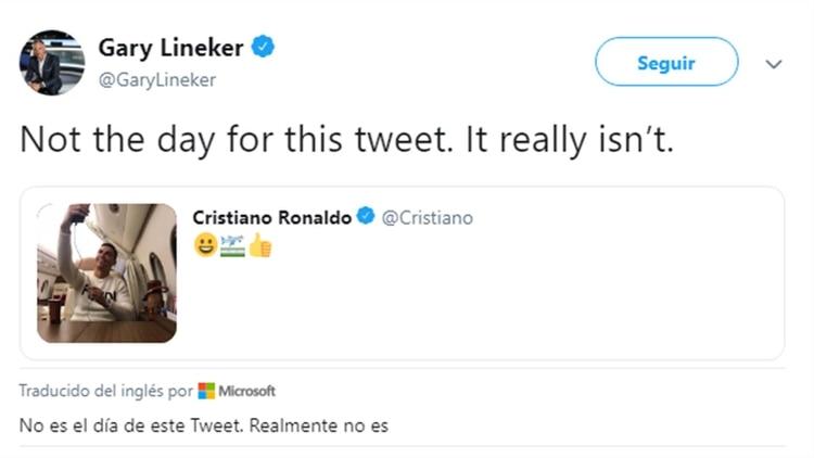 El tremendo 'zasca' de Lineker a Cristiano Ronaldo