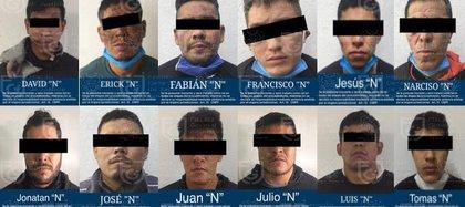 Se logró la detención de 12 personas con procedencia de la Ciudad de México, Guadalajara, Guerrero, Nayarit, Chihuahua, Michoacán, y uno de nacionalidad colombiana (Foto: SSC)