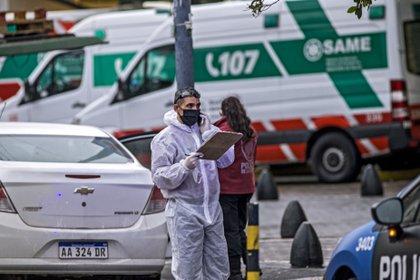 03/09/2020 Un trabajador con mascarilla y equipo de protecci�n en Buenos Aires POLITICA SUDAM�RICA ARGENTINA LATINOAM�RICA INTERNACIONAL ROBERTO ALMEIDA AVELEDO / ZUMA PRESS / CONTACTOPHO