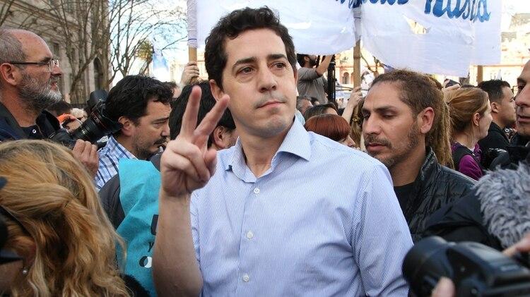 Wado de Pedro, hombre de confianza de la ex presidente Cristina Kirchner (Nicolás Aboaf)