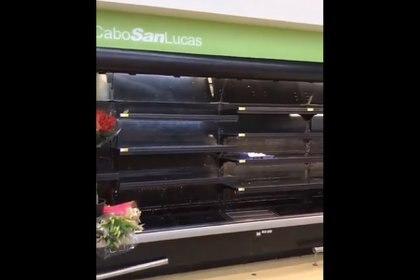 (Foto: Compras de pánico en Los Cabos)