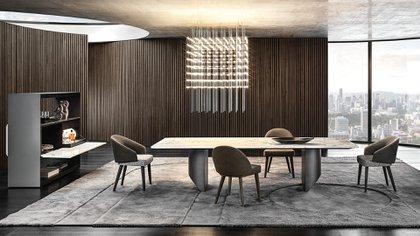 La nueva colección de Minotti, coordinada por Rodolfo Dordoni junto con Minotti Studio, marca otro paso evolutivo importante en la historia de la marca con un nuevo código decorativo que mezcla diferentes estilos. (Crédito: Prensa Minotti)