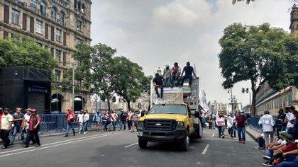 Se ofrecieron alternativas para las caravanas de más de 100 vehículos (Foto: Cuartoscuro)