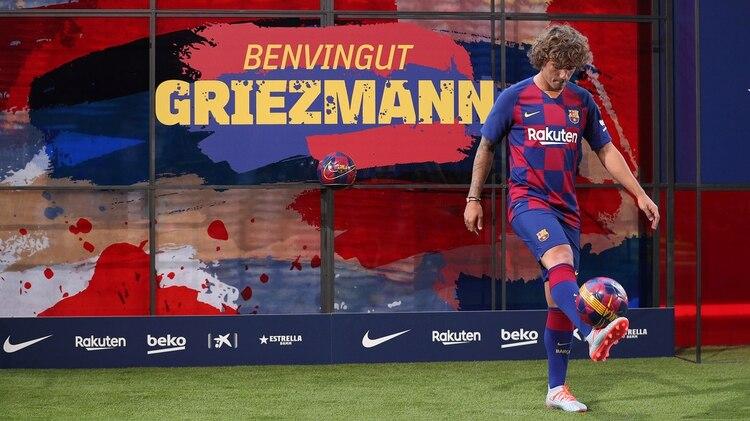 Griezmann pisó por primera vez el césped del Camp Nou como jugador del Barça (REUTERS)