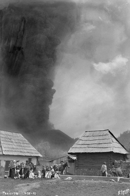 Alrededor de 2,500 personas fueron desplazadas tras el nacimiento del volcán (Foto: Rafael García/SINAFO/INAH)