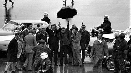 La llegada de Perón a la Argentina, tras 18 años de exilio, tuvo lugar el 17 de novimbre de 1972
