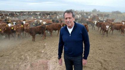 El empresario en su campo de Salta (Bloomberg)