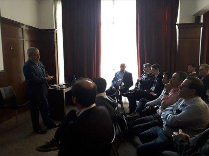 Gabriel Iezzi de la Mesa Interempresarial en la presentación de ayer.