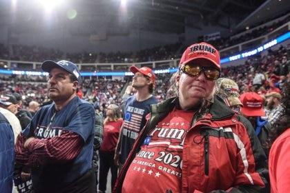 Seguidores de Trump en el acto que protagonizó en Hershey, Pennsylvania, el 10 de diciembre (REUTERS/Stephanie Keith)