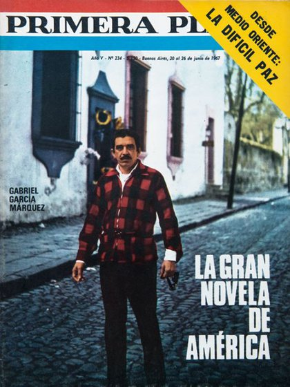 """En su visita al país, la revista Primera Plana publicó en portada a """"Gabo"""" refiriéndose a """"Cien años de soledad"""" como """"la gran novela de América"""""""