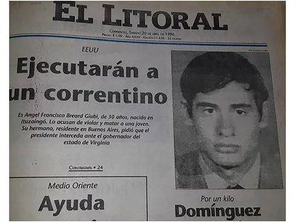 La portada del diario El Litoral de Corrientes