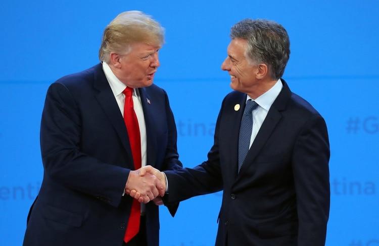 El saludo de Trump y Macri durante el G20 realizado en Argentina
