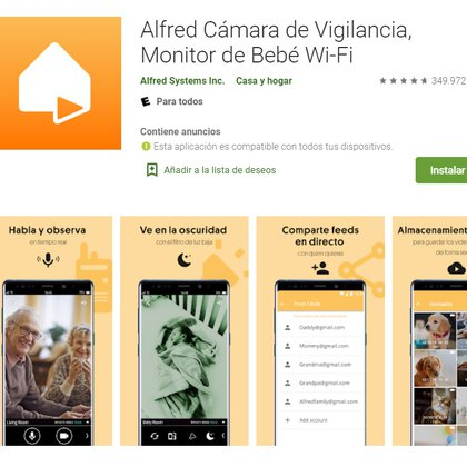 Alfred está disponible para iOS y Android. Se puede usar como Walkie Talkie
