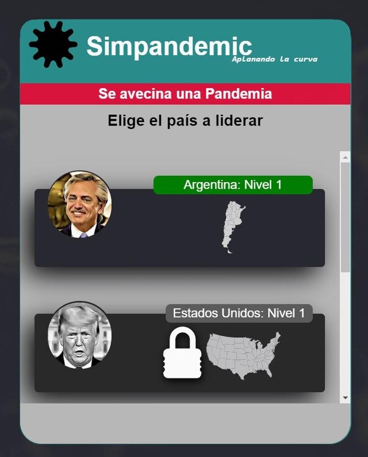 Simpandemic, un juego en el que asumís el rol de Alberto Fernández ...